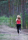 Fitness outdoors mom and daughter Stock Images