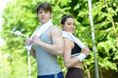 Fitness outdoors Stock Image