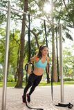 Fitness outdoors Stock Images