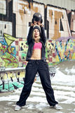 Fitness outside in ghetto Stock Images