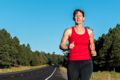 Fitness Over Forty Woman Running Royalty Free Stock Photography