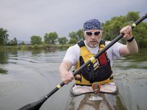 Fitness paddling Royalty Free Stock Images
