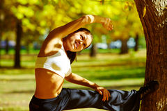 Fitness in the park Royalty Free Stock Image