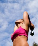 Fitness in park stock photography