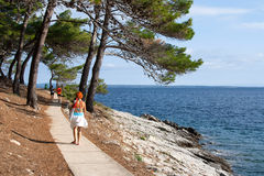 Fitness path seashore Valdarke Royalty Free Stock Photography