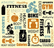 Fitness pattern Stock Photography