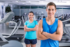 Fitness people in sport club Stock Photos