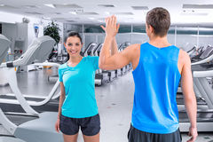 Fitness people in sport club Royalty Free Stock Photos