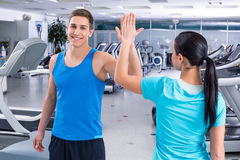 Fitness people in sport club Stock Images
