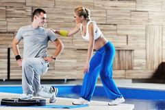 Fitness personal trainer Royalty Free Stock Image