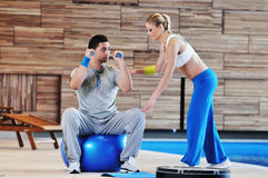 Fitness personal trainer Royalty Free Stock Images