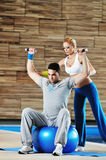 Fitness personal trainer Stock Image