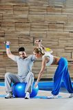 Fitness personal trainer Stock Photos