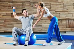 Fitness personal trainer Royalty Free Stock Photography