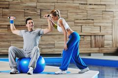 Fitness personal trainer Stock Images