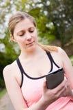 Fitness phone Royalty Free Stock Photos