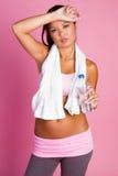 fitness pić wody fizycznej kobiet zdjęcia royalty free