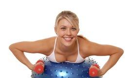 fitness pięć fizycznej dziewczyna Zdjęcia Royalty Free