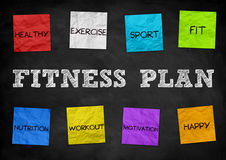 Fitness Plan Stock Image