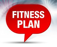 Fitness Plan Red Bubble Background vector illustration