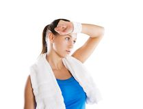 Fitness portrait Stock Photo