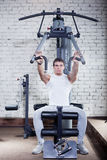 Fitness - powerful muscular man Royalty Free Stock Photo