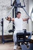Fitness - powerful muscular man Royalty Free Stock Image