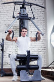 Fitness - powerful muscular man Stock Photos