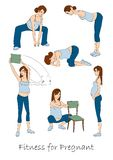 Fitness for pregnant Stock Image