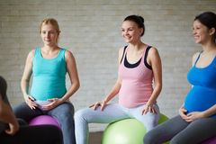 Fitness for pregnant women Royalty Free Stock Photo