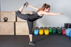 Fitness preparation - streching exercise Stock Photography