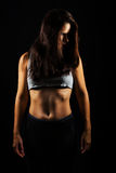 Fitness relaxed woman stock photos