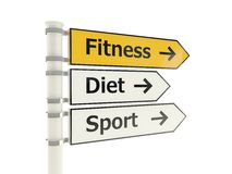 Fitness road sign Stock Image