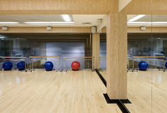 Fitness room. Indoor fitness room in a health club Royalty Free Stock Photography