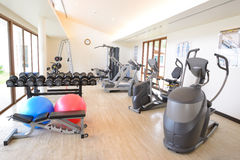 The fitness room Stock Image