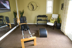 Fitness room Stock Photo