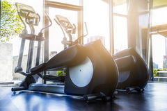 Fitness room in the morning Royalty Free Stock Photos