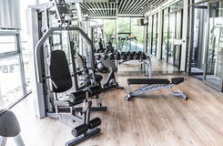 Fitness room Stock Photography