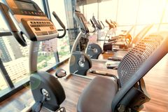 Free Fitness Room With Fitness Machine Stock Photography - 106270342
