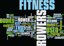 Fitness Rowers Burn Flab Text Background Word Cloud Concept Royalty Free Stock Photos