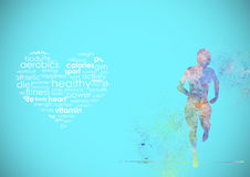 Fitness Runing Abstract Background Stock Photos