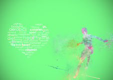 Fitness Runing Abstract Background Stock Photography