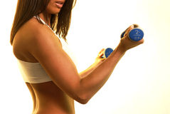 fitness s fizycznej kobiet Obrazy Stock