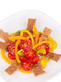 Fitness salad with tomatoes and sesame. Stock Photography