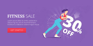 Fitness sale web banner Stock Photo