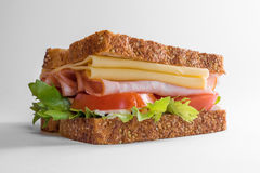 Fitness sandwich in a white background. Great option for a balanced meal and a low carb diet. Royalty Free Stock Image