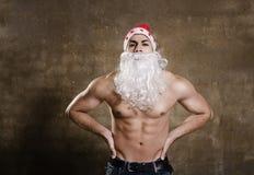 Fitness Santa ready for Christmas Stock Photography