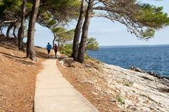 Fitness path seashore Royalty Free Stock Photo