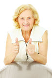 Fitness for seniors Royalty Free Stock Images