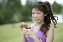 Fitness series healthy snacks Royalty Free Stock Photo